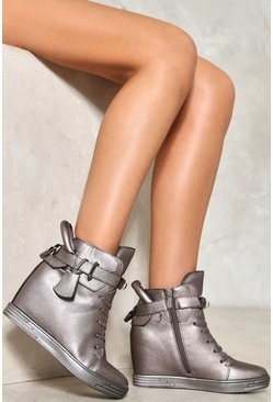 Heavy Hitter Metal Wedge Sneaker