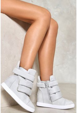 3 Strap Padded Wedge Sneaker