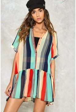 Stripe Place Stripe Time Sheer Dress