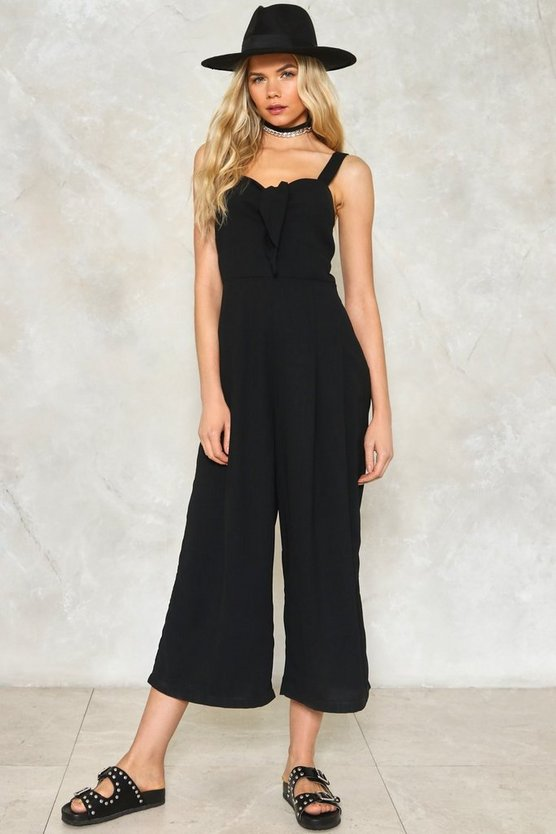 Bow Out Culotte Jumpsuit