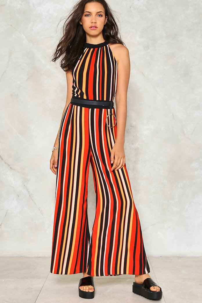 All The Stripe Moves Jumpsuit