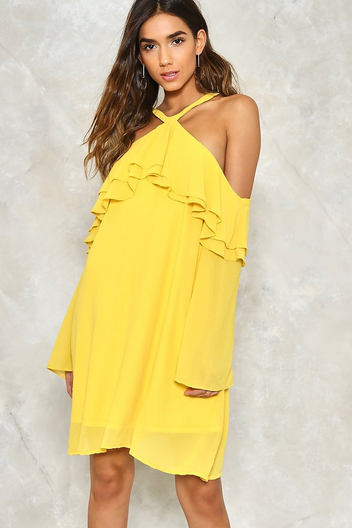 Layer It On Me Cold Shoulder Dress