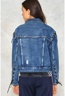 Cut Ties Lace-up Denim Jacket