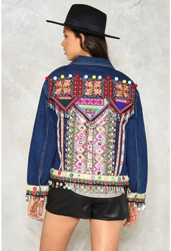 Beads Me Denim Jacket