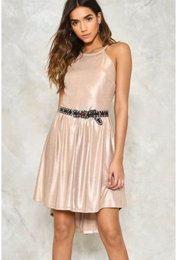 Party Crasher Metallic Dress