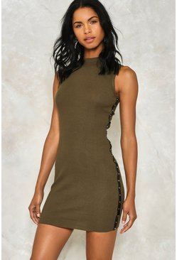 Line Em' Up Stud Bodycon Dress