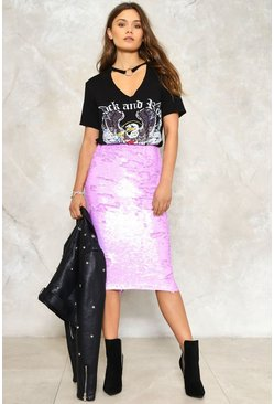Back in a Flash Sequin Skirt