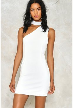 Body Talk One Shoulder Dress