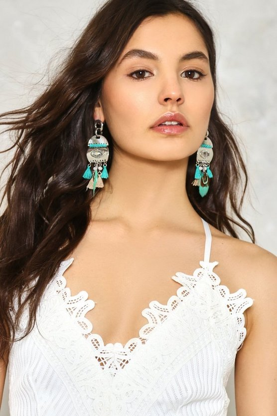 Nest Level Feather Earrings