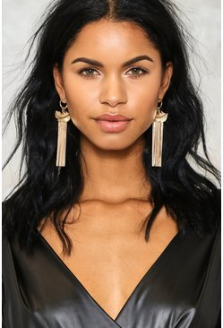 In Flight Chain Feather Earrings