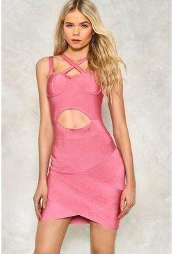 Cut Out Above the Rest Bandage Dress