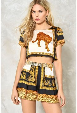 Wild Guess Leopard Crop Top