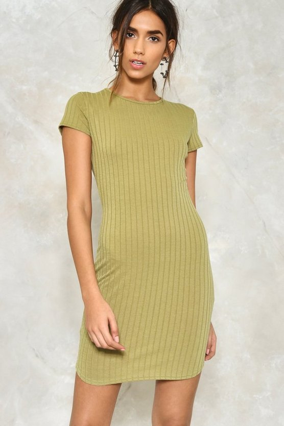 All the Tight Reasons Ribbed Dress