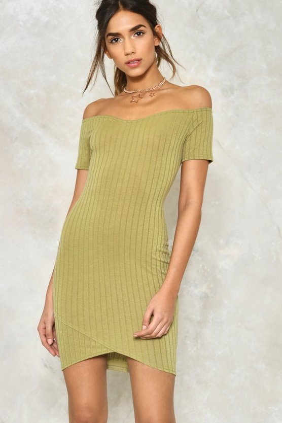 Bare in Mind Off-the-Shoulder Dress