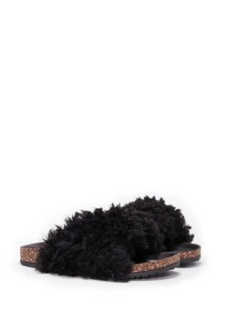 Easy Touch Shearling Slide Sandal