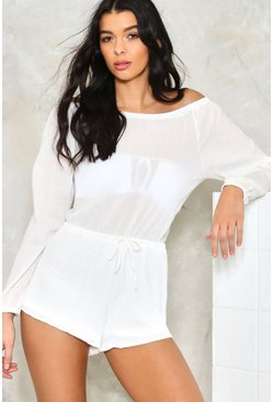In All Bareness Off-The-Shoulder Romper