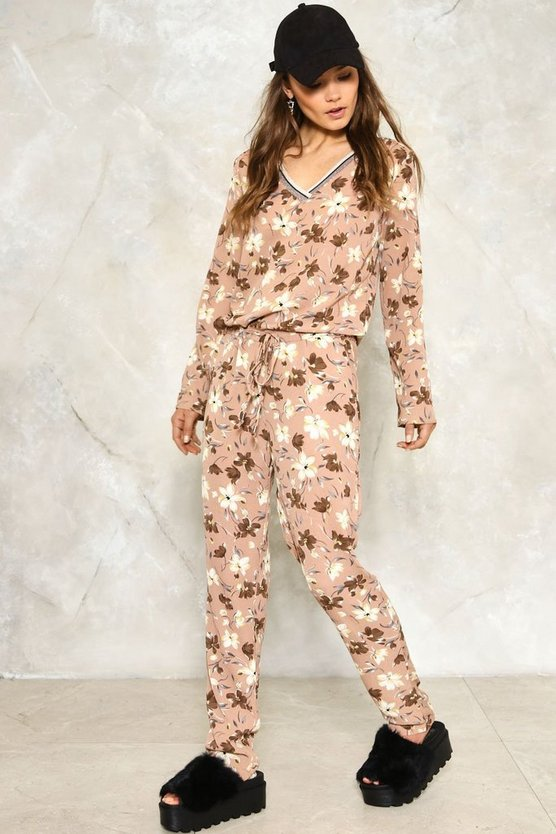 Grow Means Grow Floral Jumpsuit