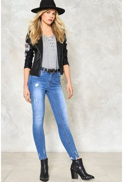 Lisa Distressed Skinny Jeans