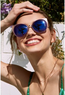 Rose Gold Cat Eye Lense Sunglasses