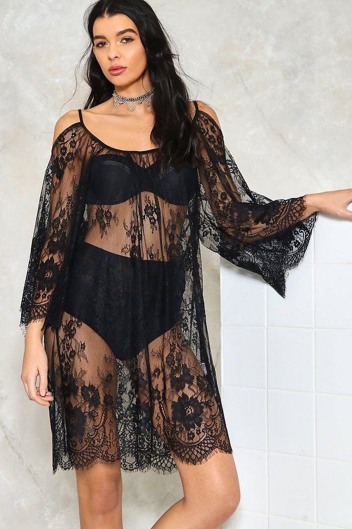 An Eye For an Eyelash Lace Cover-Up