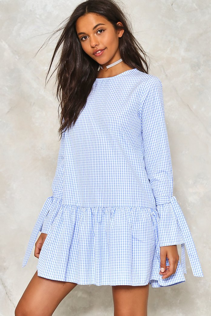 Square One Gingham Dress