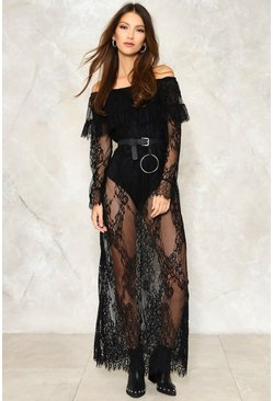 Claire Off-the-Shoulder Lace Dress