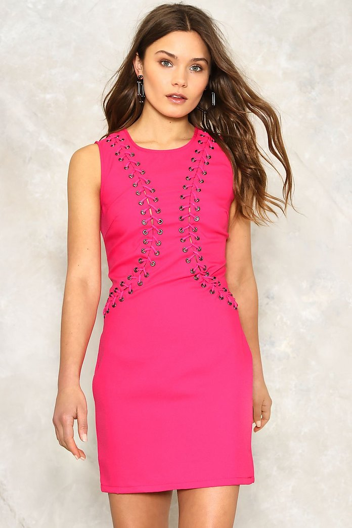 Jasmine Lace Up Dress