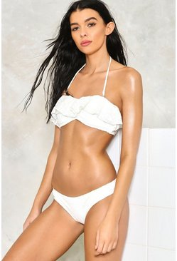 Frilly Jean Crochet Bikini Set