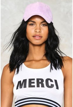 Cap it Off Vegan Suede Baseball Cap