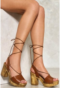 Bimini Lace-Up Wooden Platform