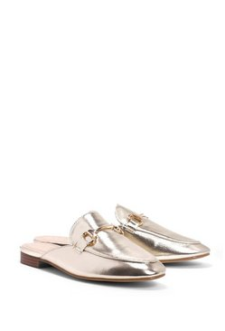 Metallic Trim Mule Loafer