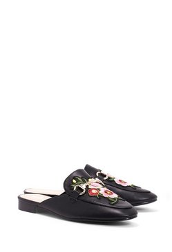 Floral Embroidered Mule Loafer