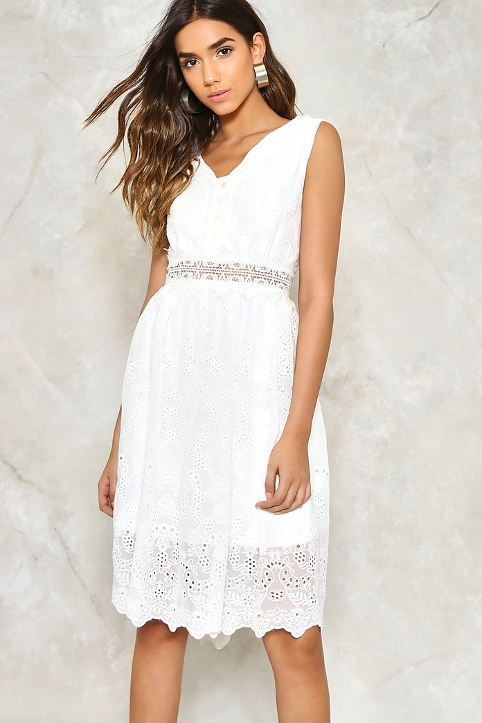 Thread Lightly Embroidered Dress