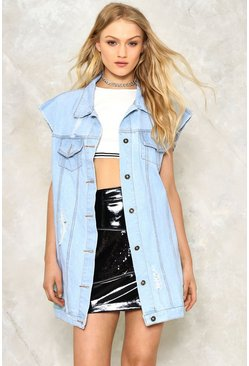 Sleeve Me Alone Denim Vest