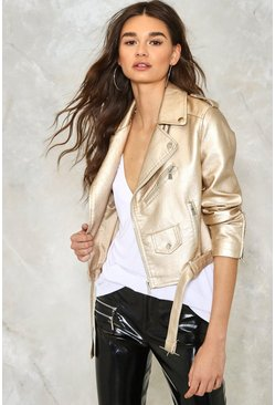 Hit the Floor Vegan Leather Moto Jacket