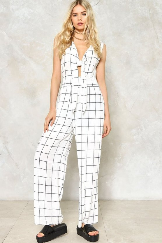 Knot Your Girl Printed Jumpsuit