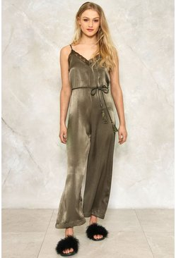 Rope 'Em In Satin Jumpsuit