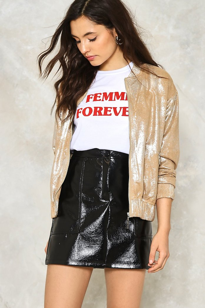 Steel Got It Metallic Bomber Jacket
