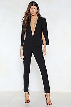 Cape Style Tailored Jumpsuit
