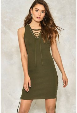 Lace Up to it Dress
