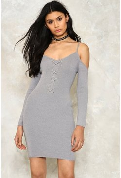 Freeze Dry Lace-up Dress