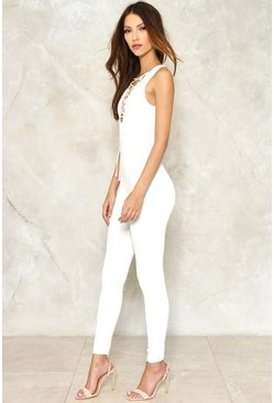 Lace Oddity Knit Jumpsuit