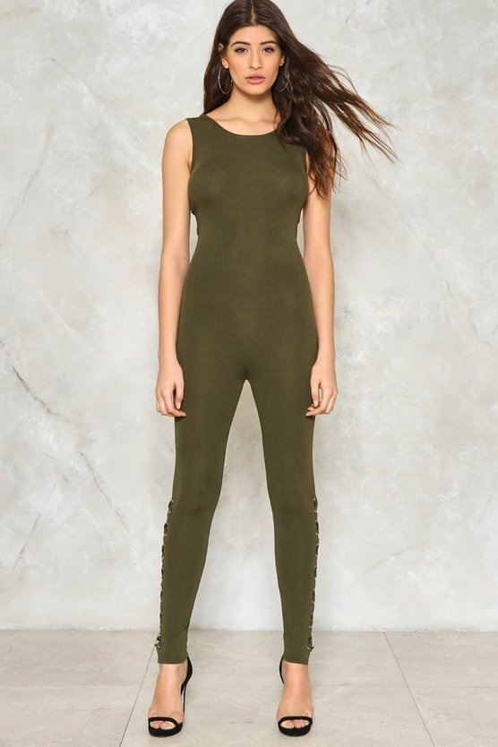 Lace-Up to No Good Reversible Jumpsuit