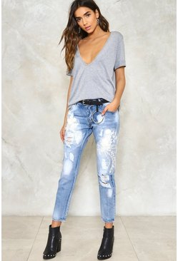 Up To Mischief Distressed Jeans