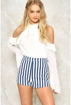 Hey Sailor High-Waisted Shorts