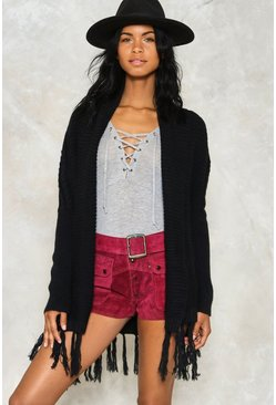 Livin' on the Edge Tassel Cardigan