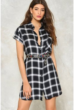 Taylor Plaid Shirt Dress