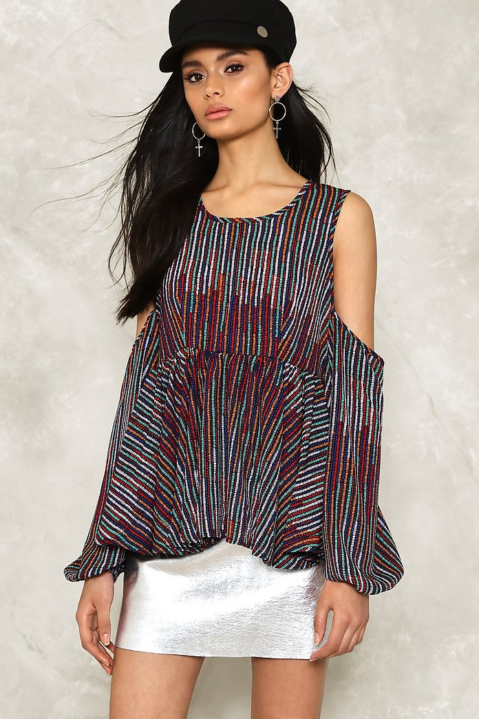 Lay It On the Line Cold Shoulder Top