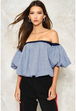 Huff and Puff Off-the-Shoulder Top