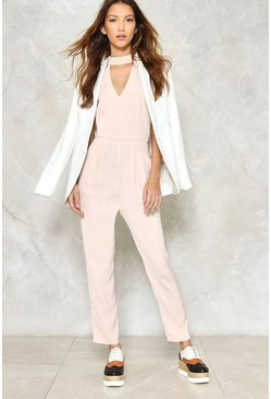 Plunge For It Choker Jumpsuit